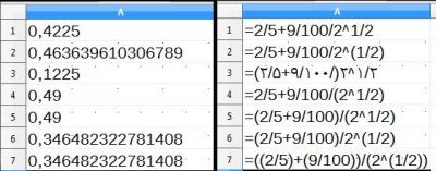 فرمول های محاسبه